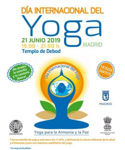 Cartel Día Internacional Yoga Madrid