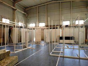 Construcción de camerinos para rodaje - Soluciones Efímeras S.L.