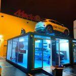 Expositor para Ford Puma en un concesionario de Madrid