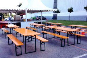 Mesas cerveceras alquiler para eventos