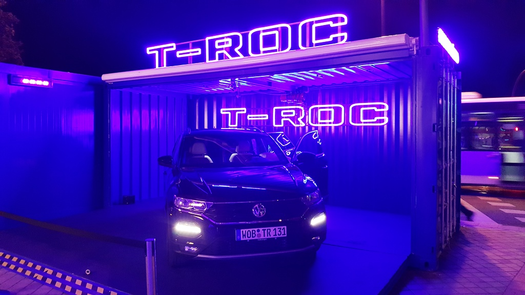 Contenedores para eventos. Wolkswagen T-Rock
